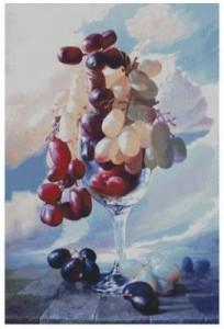 Схема Виноград в бокале