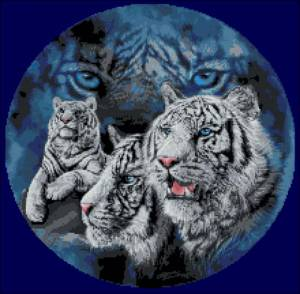Схема Белые тигры (круг)