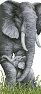 Схема Слоненок с мамой