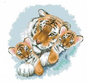 Схема Сибирские тигры / Siberian Snuggle