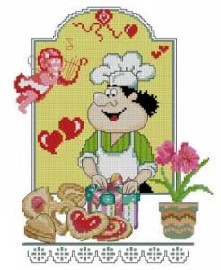 Схема День св.Валентина. Поварята