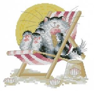 Схема Котик на пляже