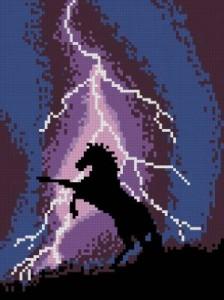 Схема Лошадь и молния