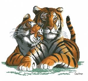 Схема Два тигра