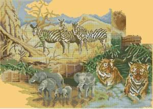 Схема Дикая природа Африки