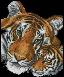 Схема Тигр и тигрёнок