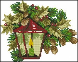 Схема Рождественский фонарь