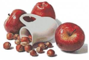 Схема Кувшин, яблоки и орехи