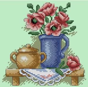 Схема Цветы в кувшине