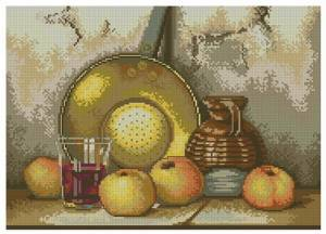 Схема Натюрморт с яблоками