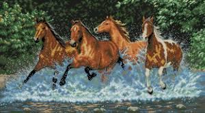 Схема Скачущие лошади / Galloping Horses