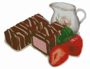 Схема Клубничный десерт