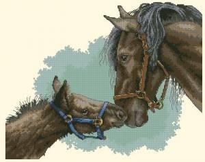 Схема Лошадь с жеребенком