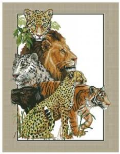 Схема Большие кошки