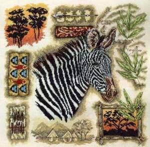 Схема Зебра / Anchor Fleur de Lis. Zebra