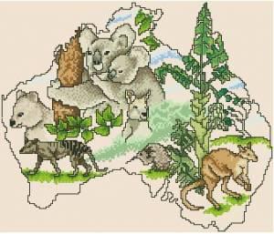 Схема Континенты. Австралия