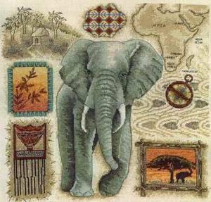 Схема Слон / Anchor Fleur de Lis. Elephant