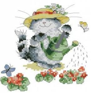 Схема Котик с лейкой