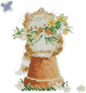 Схема Кошак на горшке