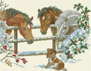 Схема Лошади и щенок