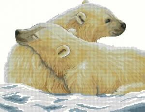 Схема Арктическая любовь (Белые медведи)