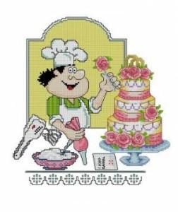 Схема Свадебный тортик. Поварята