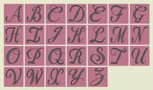 Схема Алфавит на розовом
