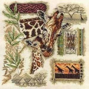 Схема Жираф / Anchor Fleur de Lis. Giraffe