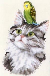Схема Кот с попугаем