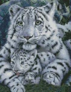 Схема Белая тигрица с тигренком