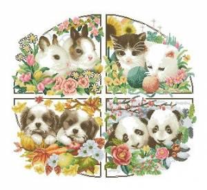 Схема Животные 4 сезона