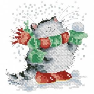 Схема Котик зимой