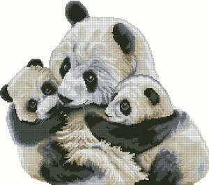 Схема Мишки панда. Материнская любовь