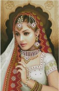 Схема Индийская девушка