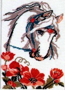 Схема Лошадь с маками