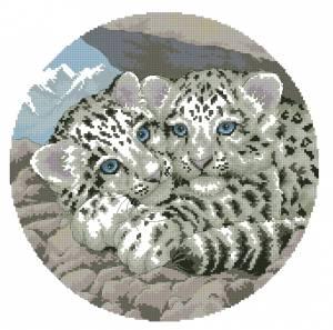 Схема Детеныши белого леопарда