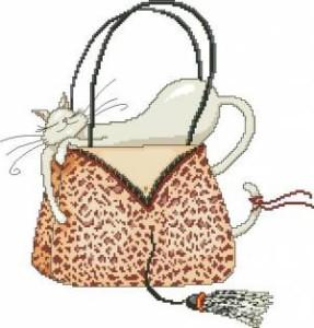 Схема Кошечка в леопардовой сумочке