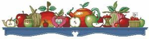 Схема Яблоки и чашки