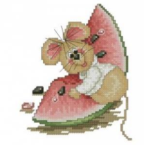 Схема Мышонок с арбузом