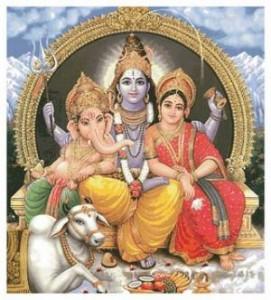 Схема Шива, Ганеша и Парвати