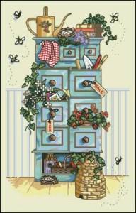 Схема Садовый шкафчик