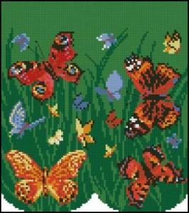 Схема Очечник с бабочками