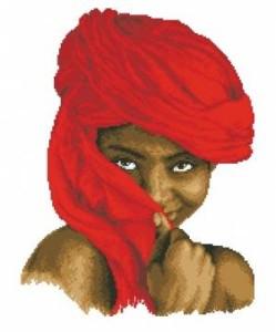 Схема Девочка в красном