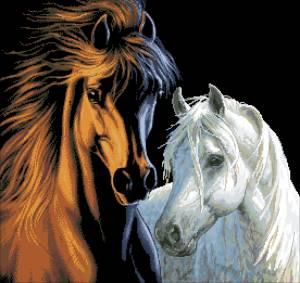 Схема Пара лошадей