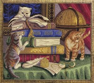 Схема Котята с книгами
