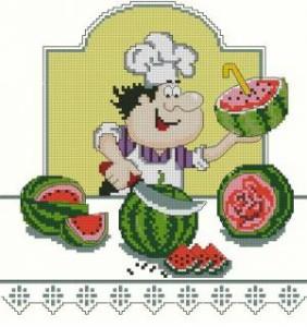 Схема Я люблю арбузик