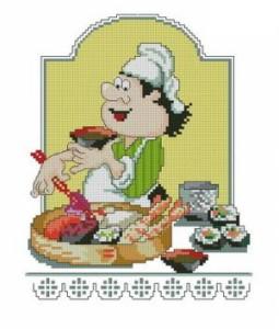 Схема для вышивки суши