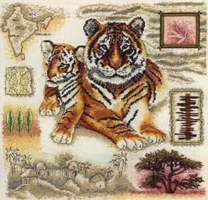 Схема Тигр / Anchor Fleur de Lis. Tiger