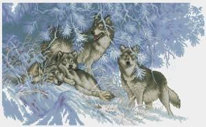 Схема Зимнее время волков
