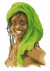 Схема Девочка в зеленом